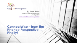 ConnectWise – from the Finance Perspective