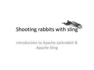 Shooting rabbits with sling