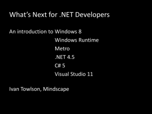 What`s Next for .NET Developers - Flatlander