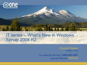PowerPoint Slides for session