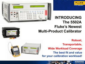 The 5502A Multi Product Calibrator