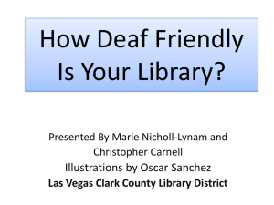 Deaf Culture - Nevada Library Association