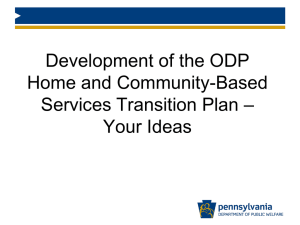 ODP Home and Community-Based Services Transition Plan