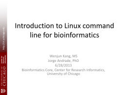 Linux - Center for Research Informatics