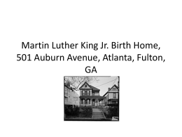 Martin Luther King Jr. Birth Home, 501 Auburn Avenue, Atlanta