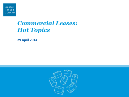 Presentation - Commercial Leases: Hot Topics