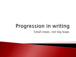 Progression in writing - Southend High School for Girls