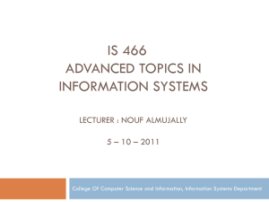 Lecture 5-IS466