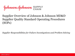 The Supplier Failure Investigation and Problem Solving Template