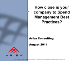 Spend Management Best Practices