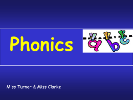 Powerpoint from the phonics session