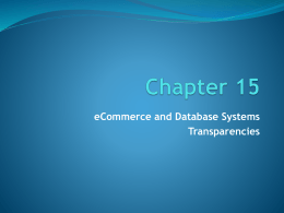 Chapter 15 PowerPoint Slides - Computer Information Systems