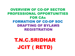 OVERVIEW OF CO-OP SECTOR PROFESSIONAL