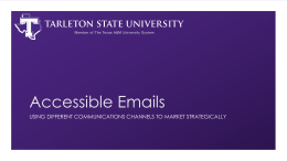 Accessible Emails - Tarleton State University
