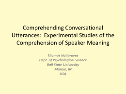 Comprehending Conversational Utterances