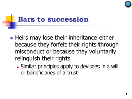 Bars to Succession