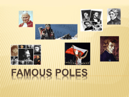Presentation about Famous Polish personalities by polish students