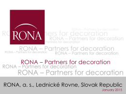 Partners for decoration
