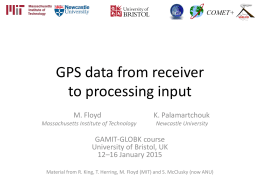 Fundamentals of GPS for geodesy