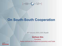 On South-South Cooperation : DoHoon Kim , President Korea