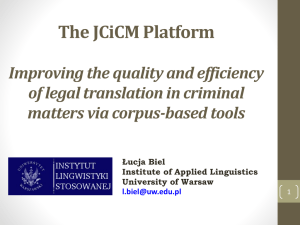 Improving the quality and efficiency of legal translation in