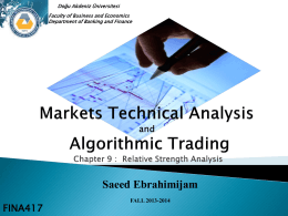 Fundamental of Technical Analysis and Algorithmic Trading