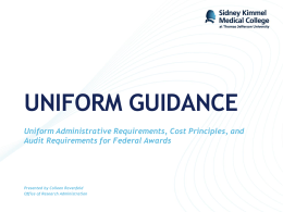 Uniform Guidance Presentation