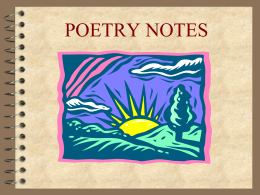 Poetry Notes PowerPoint