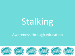 Stalking Statistics - National Stalking Helpline