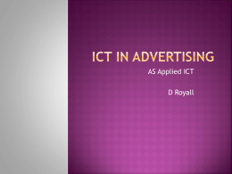 ICT in Advertising