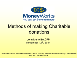 Charitable donations 2014 - The LeRoi Community Foundation