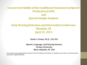 (CASP) and Speech Sample Analyses