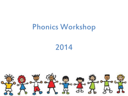 Phonics Workshop ppt