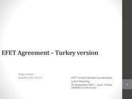EFET Agreement – Turkey version – 24 November
