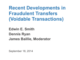 Fraudulent Transfers - American College of Bankruptcy