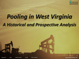 Pooling in WV - WVONGA is