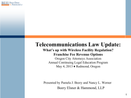 Telecom Law Update - Beery Elsner & Hammond LLP