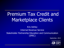 Advanced Premium Tax Credit