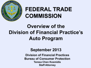 FTC: Update on Financial Practices and Consumer Credit