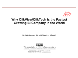 Why QlikView is the fastest growing BI company in the world