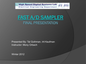 Final Presentation - High Speed Digital Systems Lab