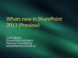 Title of Presentation - Irish SharePoint UserGroup
