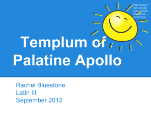 Templum of Palatine Apollo