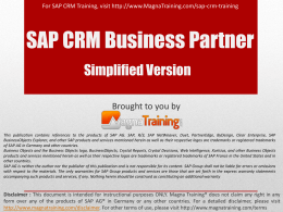 SAP CRM Product Master