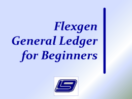 General Ledger - Local Government Corporation