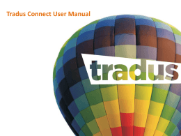 Tradus Connect User Manual