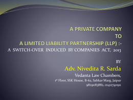 Conversion of LLC into LLP by Nivedita Sarda