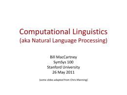 Computational Linguistics & Natural Language
