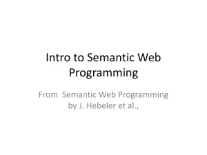 Intro to Semantic Web Programming