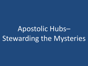 Apostolic Hubs: Stewarding the Mysteries